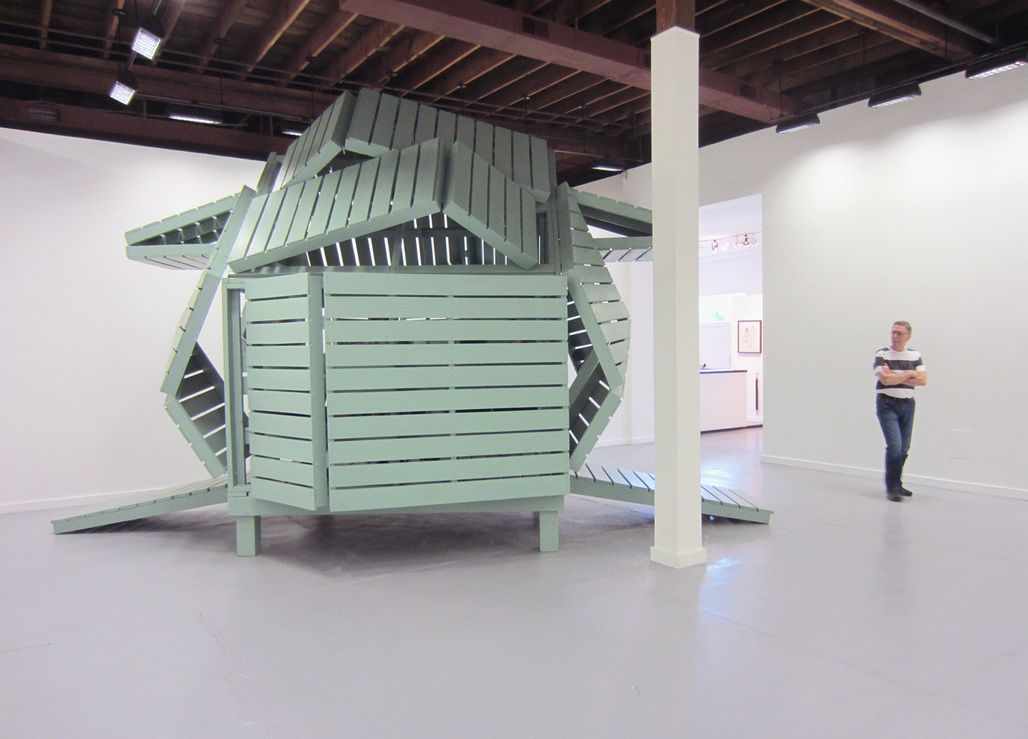 Michael Jantzens M-velope sculpture at Bruno David Gallery, St. Louis, Missouri. Image courtesy of the artist.