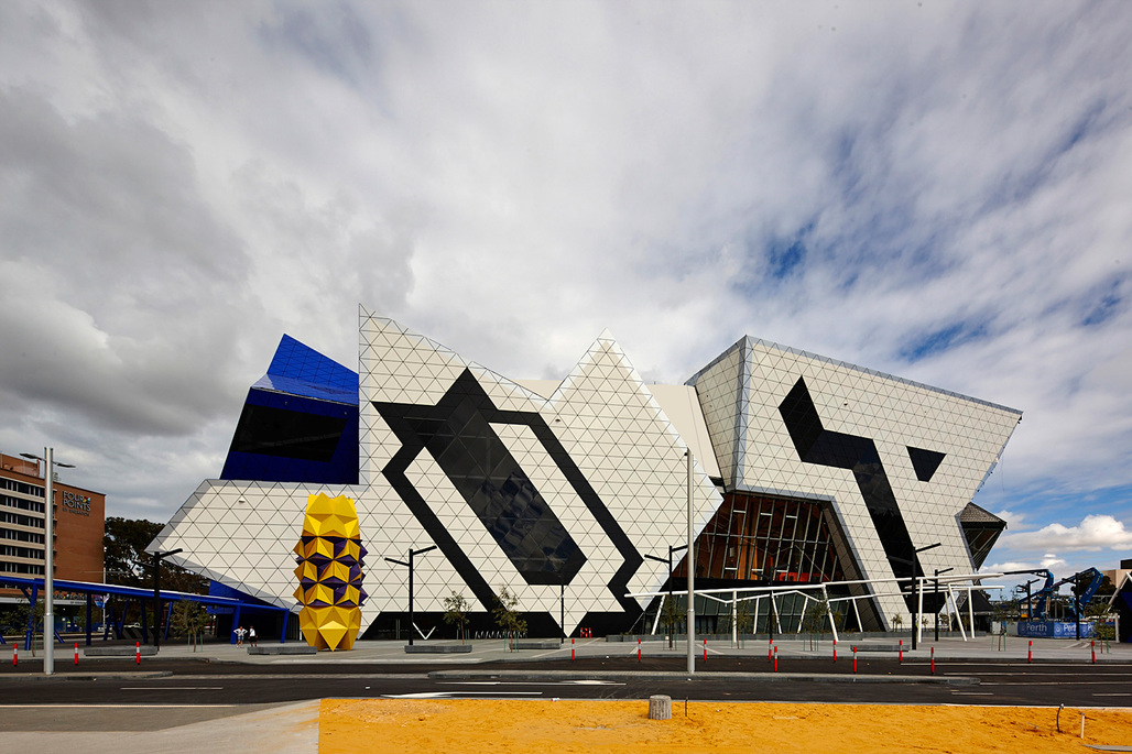 Perth Arena by ARM Architecture + CCN Architects. Photo: Peter Bennetts.
