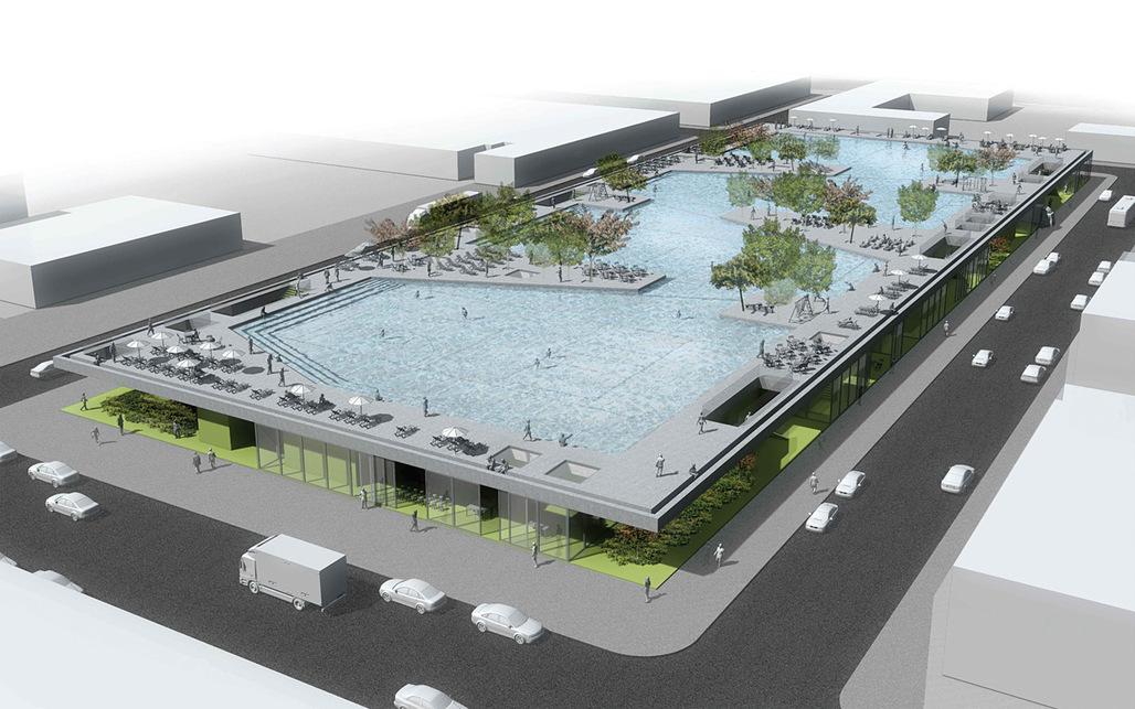 "Detail of the winning project in the category Community Programming: ""Flood Courts Gowanus"" by Josip Zaninović, Krešimir Renić, Ana Ranogajec, Tamara Marić, and Branko Palić from Zagreb, Croatia"