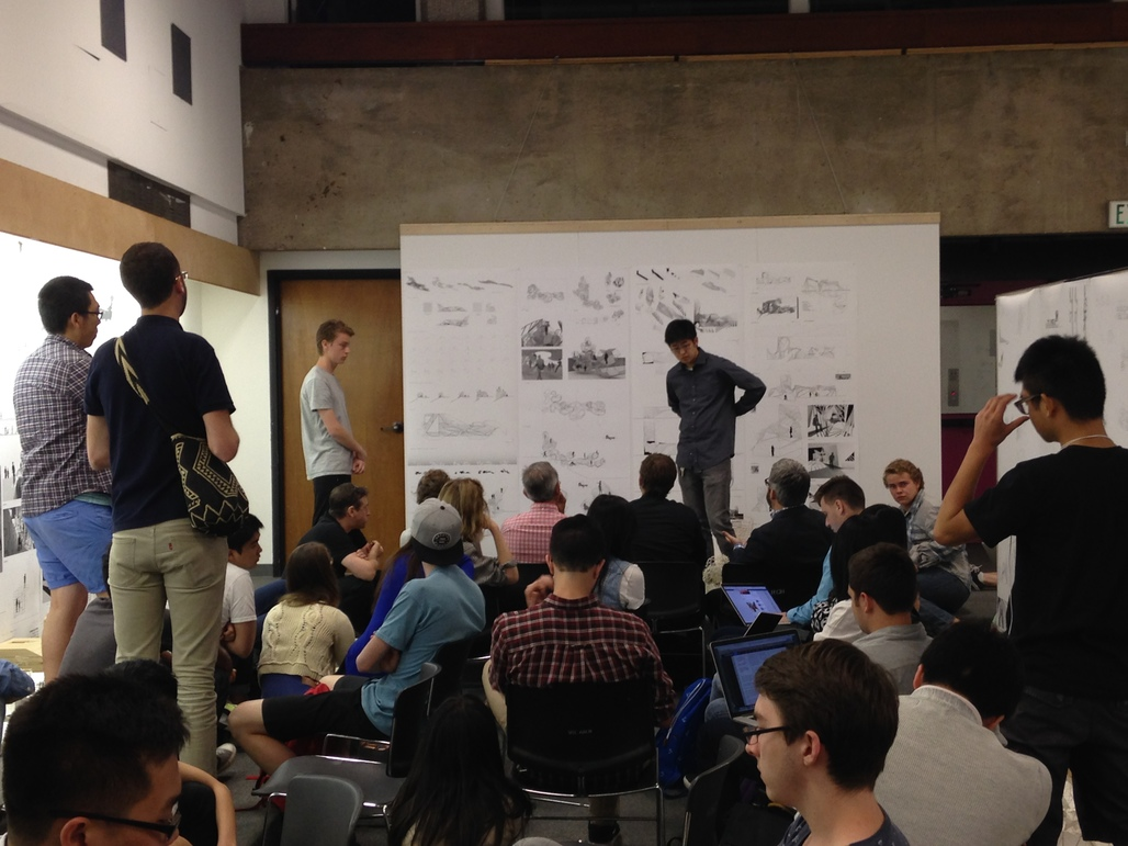 First year final review at USC School of Architecture. Photo: Amelia Taylor-Hochberg.