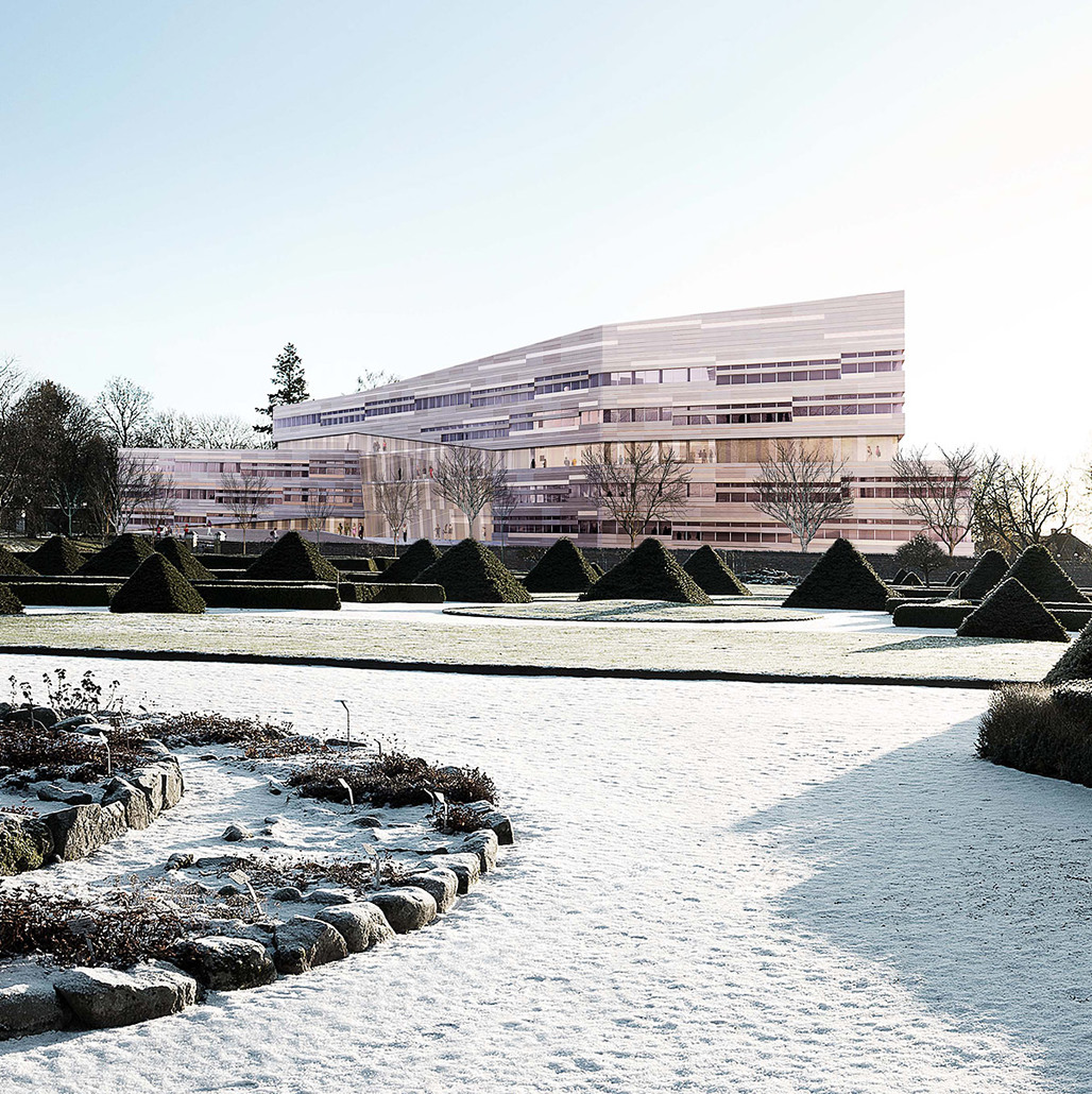 3XNs competition-winning design for Uppsala University (Image: 3XN)