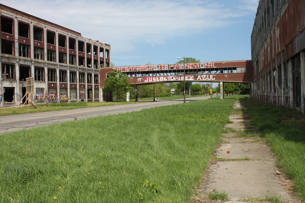 Detroits Packard Plant, one of the real sites picked for a speculative presentation. Photo: Joseph on flickr.com.