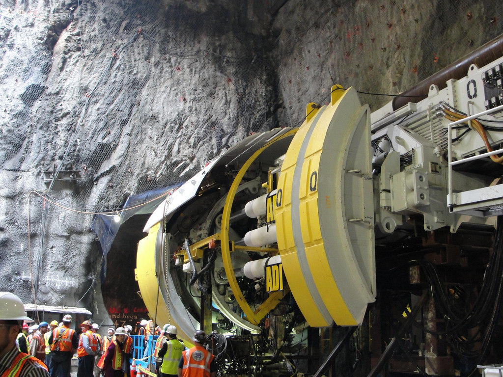 """A tunnel boring machine, or """"TBM"""". Image via flickr"""