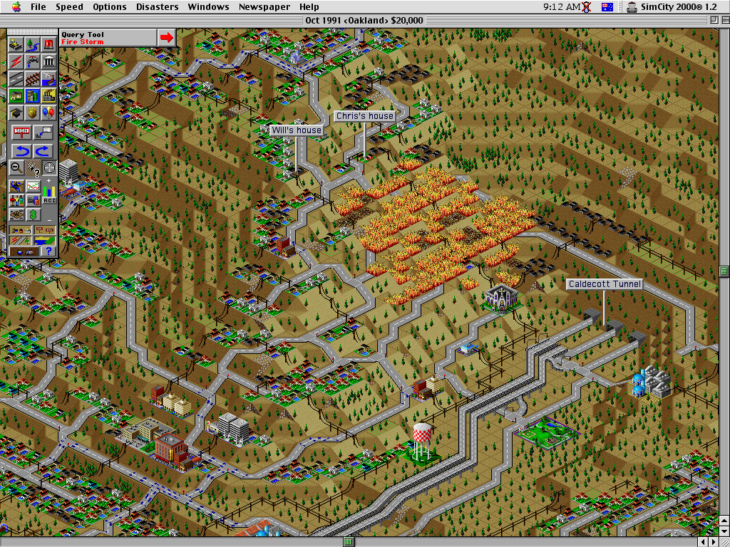 SimCity is only one of the many iconic members of the city-building game family, here in its SimCity 2000 version from the 1990s. (Image via arstechnica.com)