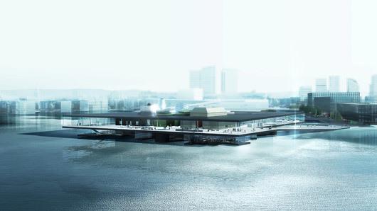 """2nd prize winner in Oslo: the proposal """"Yin Yang"""" by REX"""