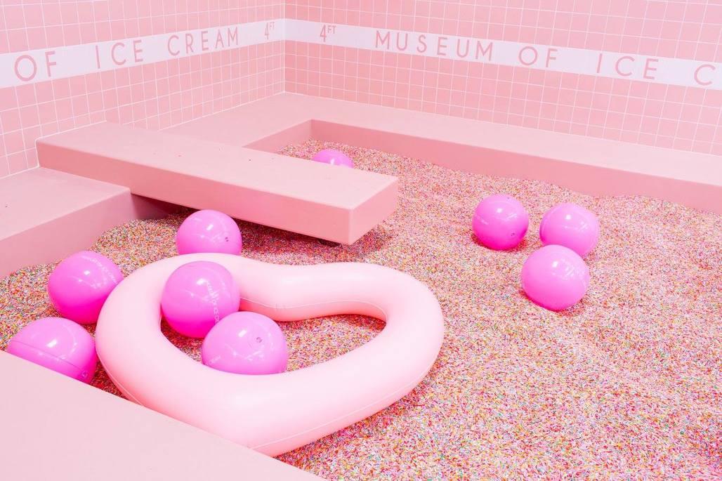 The Museum of Ice Cream in Los Angeles. Photo: Katie Gibb, via Museum of Ice Cream/Facebook.