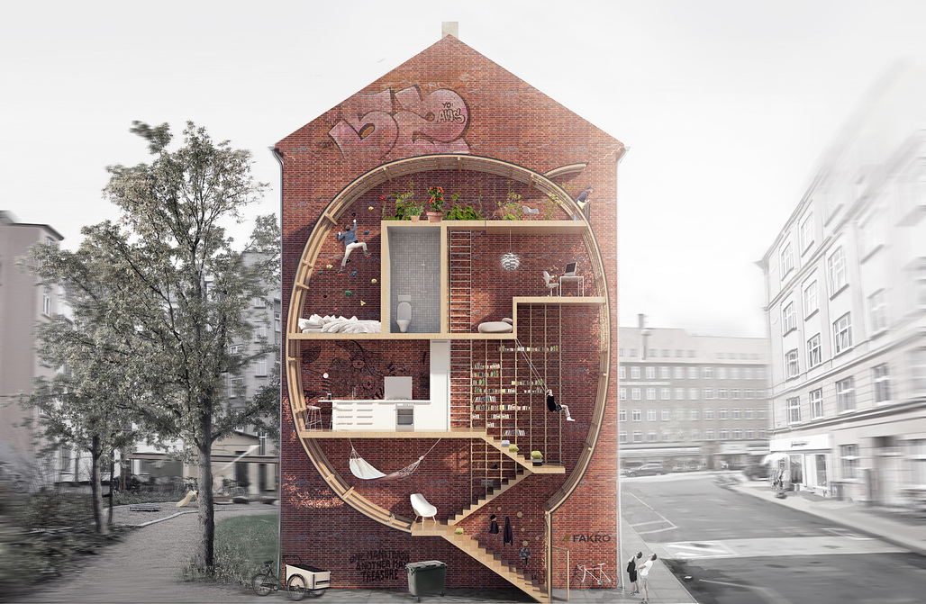 First Place: Live between Buildings by Ole Robin Storjohann - (DE, working in DK) and Mateusz Mastalski (PL, working in DK)