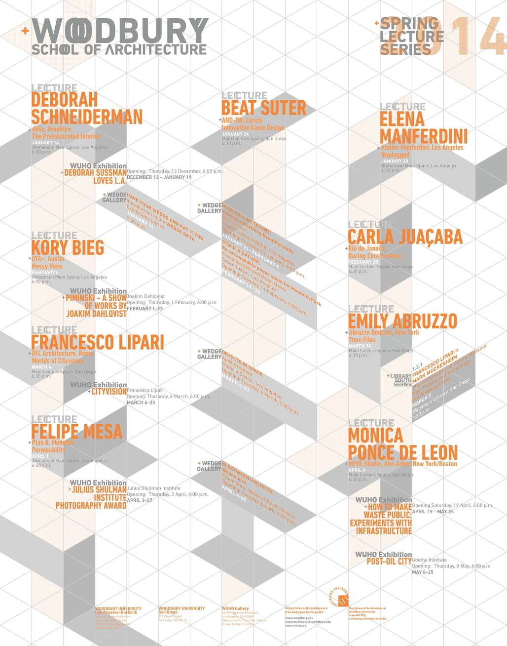 Woodbury Architecture Spring 14 Lecture Series. Image courtesy of Woodbury School of Architecture.