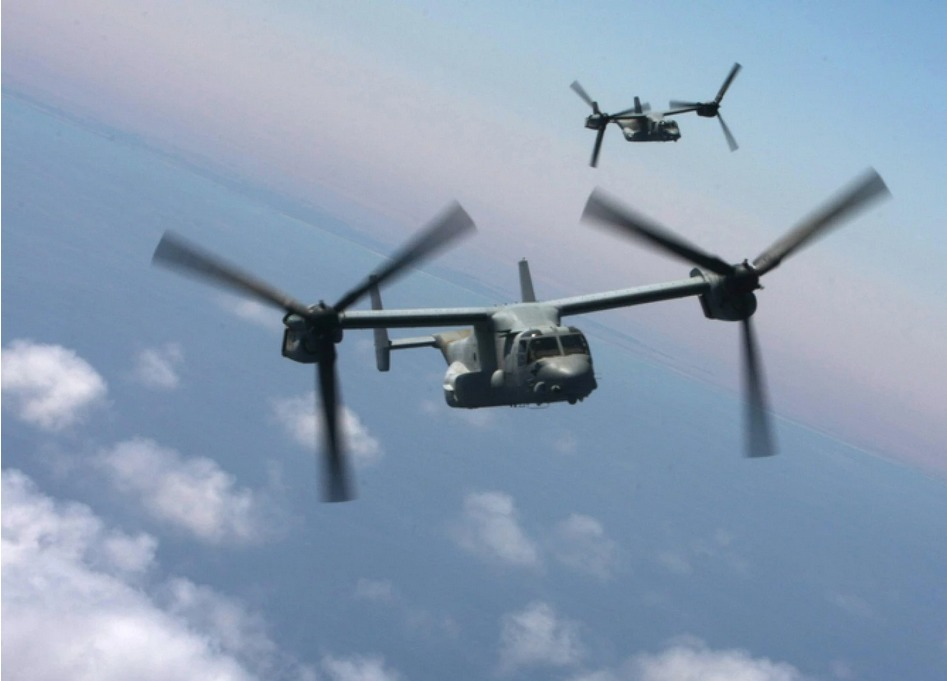 New technologies like the tiltrotor could create faster, more flexible commuter air travel. Credit: US Navy / Wikimedia