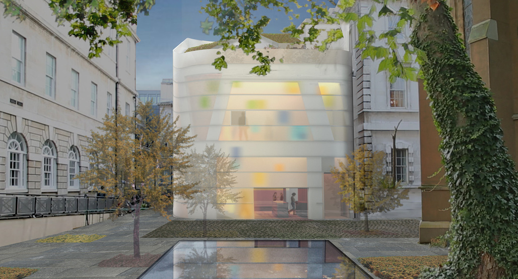 Proposed design of Maggies Centre at Barts by Steven Holl Architects. Image courtesy of Steven Holl Architects.