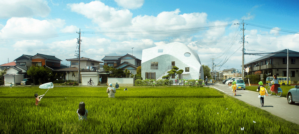 Rendering of MADs Clover House kindergarten. Image courtesy of MAD.