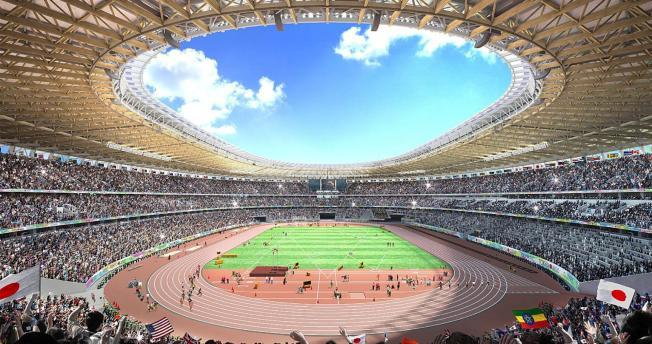Sorry Zaha, its Kengo Kumas new proposal which will welcome the world in 2020 for the Tokyo Olympics. (Image: Japan Sports Council)