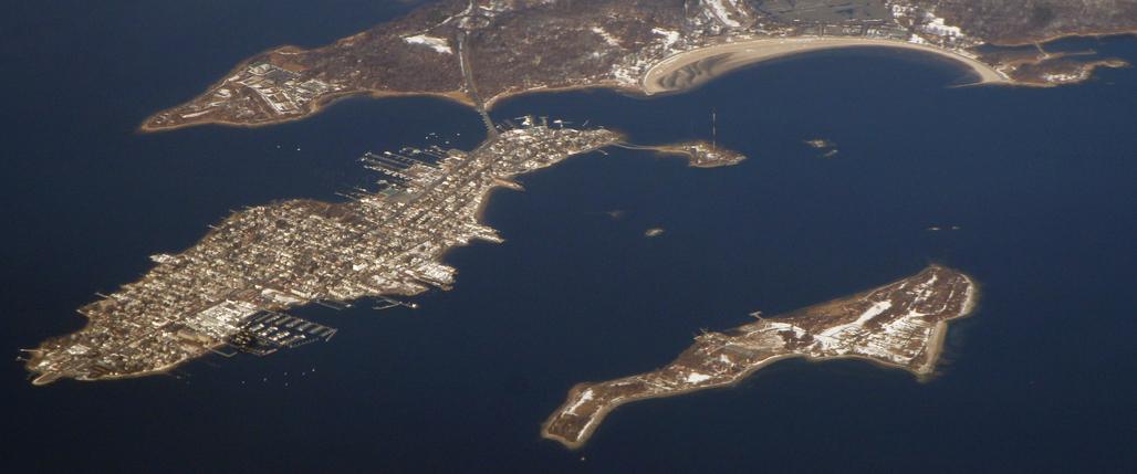 Hart Island (bottom right) seen from above. Image via wikimedia.org