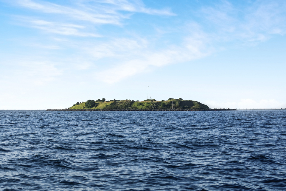 This former-military outpost off the coast of Copenhagen is currently for sale. Credit: Claus Borg & Partner