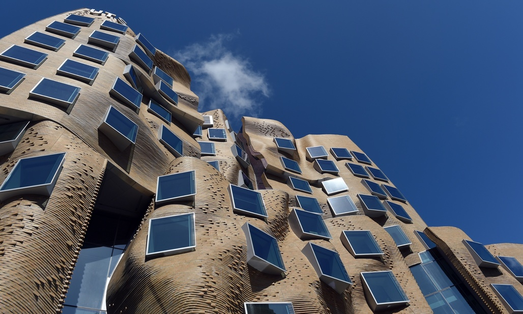 Architect Frank Gehry's Dr Chau Chak Wing building. Photograph: Paul Miller/AAP. Image via theguardian.com.