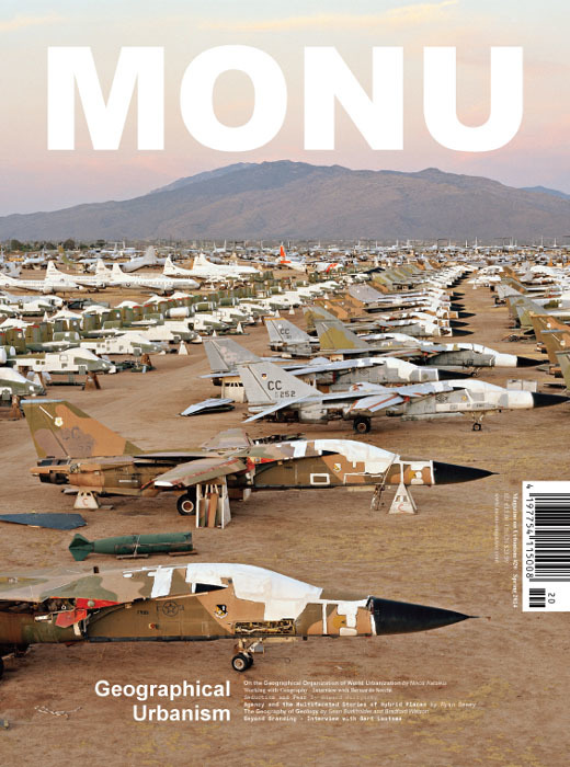 "Cover of MONU #20 (Cover: Image ""AMARC#3; Tucson, Arizona, USA, 2006"" from Edward Burtynsky's contribution ""Seduction and Fear"". Photo ©Edward Burtynsky, courtesy Nicholas Metivier Gallery, Toronto/ Flowers, London.)"