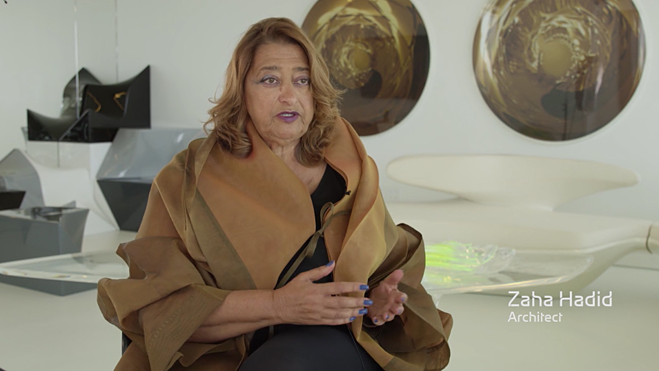 Screenshot from Zaha Hadid Architects New National Stadium video appeal to give their redesigned proposal a second chance (August 2015).