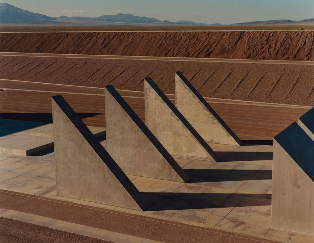 "Heizer, a pioneer of the earthworks movement, began ""City"" in 1972. A mile and a half long and inspired by ancient ritual cities, it is made from rocks, sand, and concrete mined and mixed on site. PHOTOGRAPH BY JAMIE HAWKESWORTH FOR THE NEW YORKER"