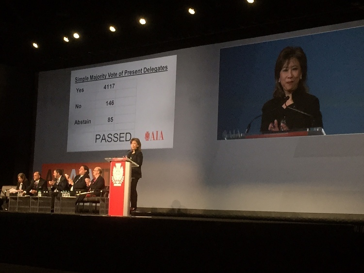 "Back in June, the AIA approved Resolution 15-1, titled ""Equity in Architecture"". Photo via themissing32percent.com"