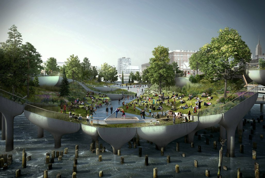 Heatherwick Studios rendering of New Yorks Pier 55.