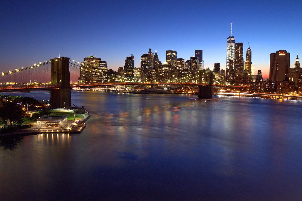 Lower Manhattan from Brooklyn. Image via wikimedia.org