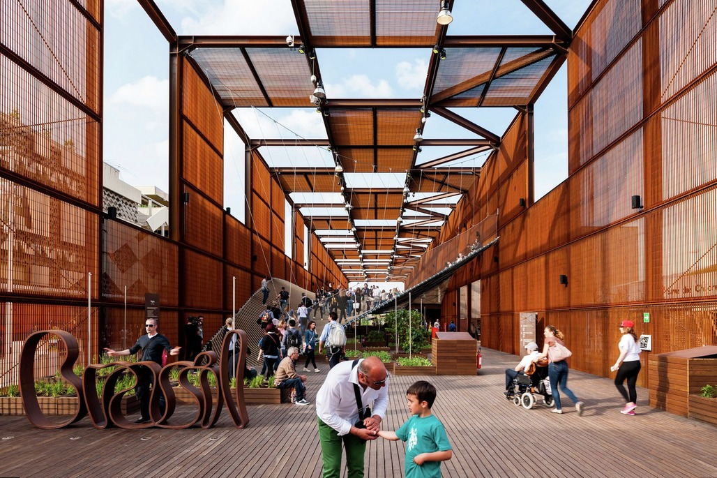 COMPLETED BUILDINGS - DISPLAY category winner: Brazilian Expo Pavilion in Italy. Designed by Arthur Casas / Marko Brajovic.