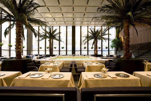 The Pool Room inside the NYC Four Seasons restaurant housed in the Seagram Building. (Image via fourseasonsrestaurant.com)