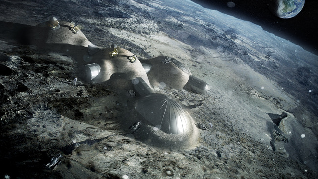 Foster + Partners proposed 3D printed lunar module