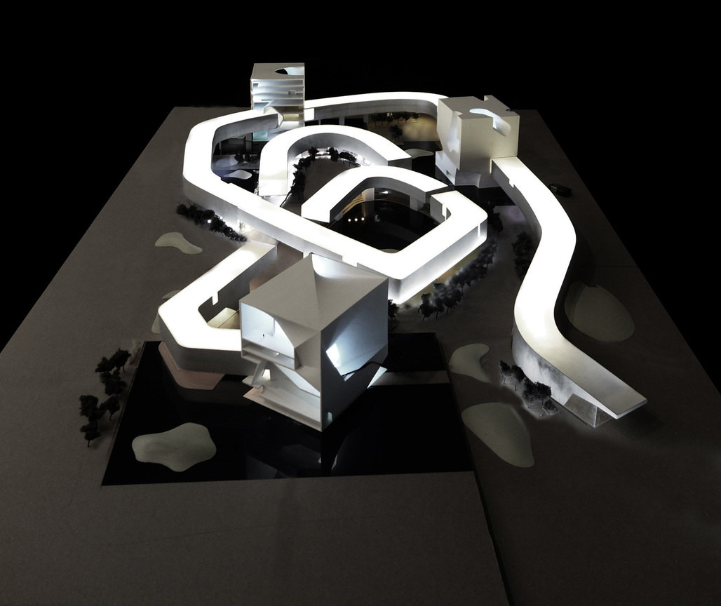 Steven Holl Architects winning design for the new Qingdao Culture and Art Center. Image: Steven Holl Architects.
