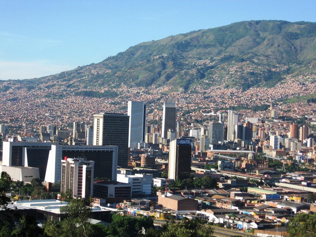 A panorama of el Centro de Medellín. Image via wikimedia