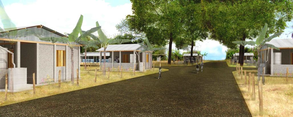Renderings of the 2015 La Bendicion master plan settlement (via Geoff Piper)