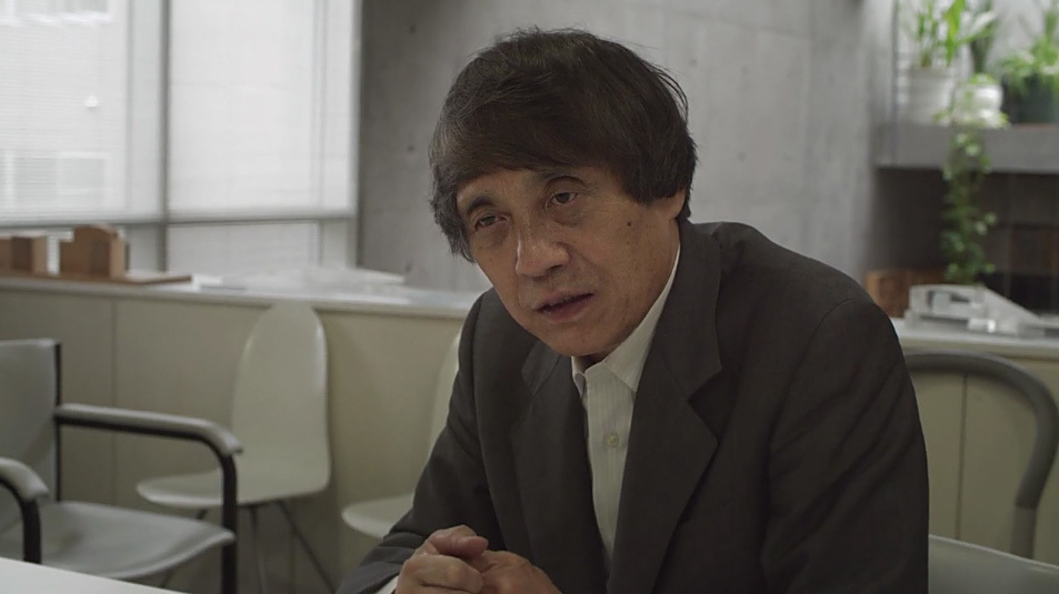 "Tadao Ando: ""I wanted to make something which no one else could, a very quiet piece of architecture, made from basic materials."" (Screen shot from 152 Elizabeth Street video interview)"