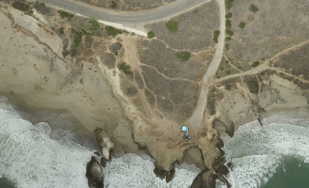 A DroneDeploy-stitched high-resolution aerial image of a Malibu coastline segment shot from a simple consumer-level drone. (Photo: Brennon Edwards/Dominic Bendijo; Image via dronedeploy.com)