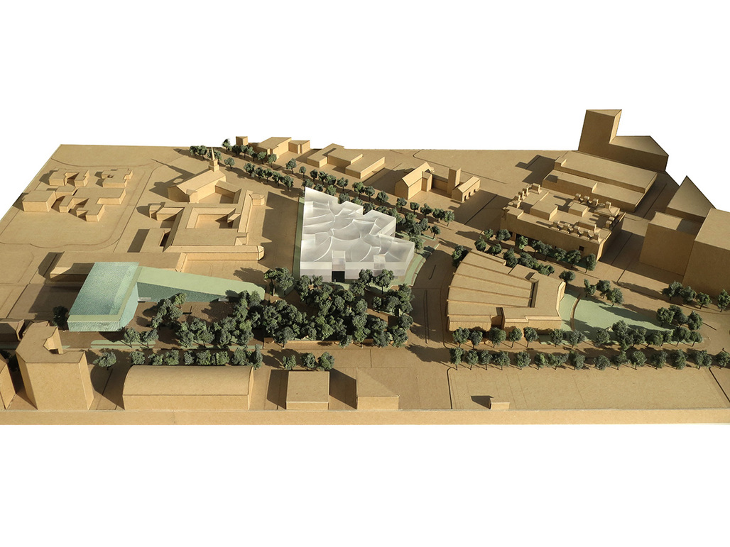 Model view of the Fayez S. Sarofim Campus. Courtesy of Steven Holl Architects