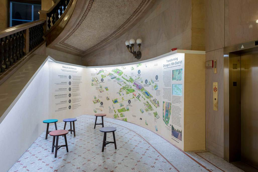 Studio Gangs Polis Station at the Chicago Architecture Biennial. Photo: Chicago Architecture Biennial/Nathan Keay.