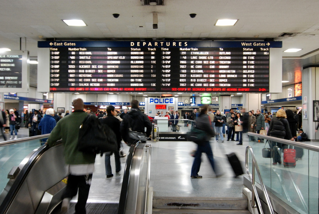 Penn Station Status Board. Image via flickr.com
