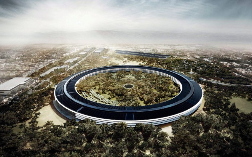 Steve Jobs called Apples Norman Foster-designed future headquarters the best office building in the world. (DPA, via Spiegel)