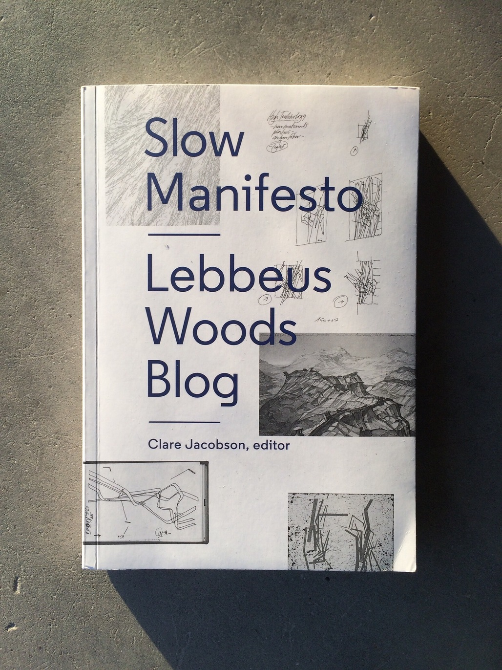 Slow Manifesto: Lebbeus Woods Blog edited by Clare Jacobson, published by Princeton Architectural Press (2015). Photo by Justine Testado.