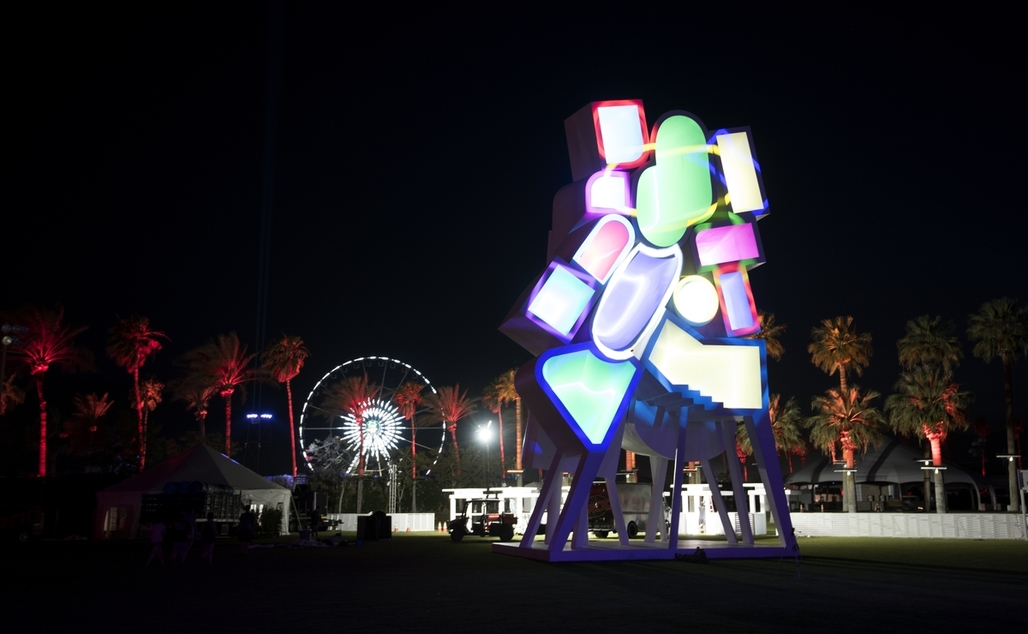 "Jimenez Lais ""Tower of Twelve Stories"" at Coachella. Image courtesy Goldenvoice"