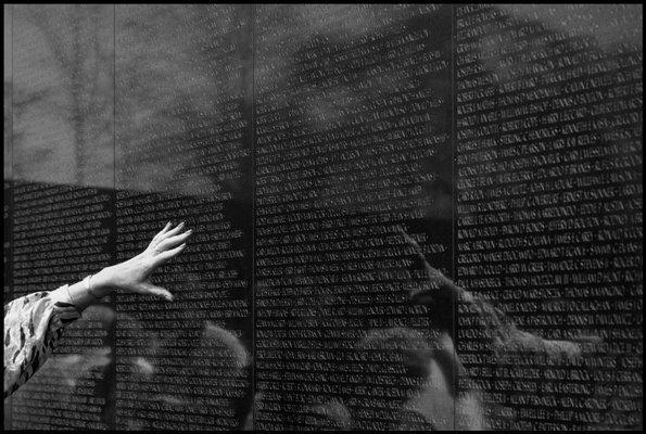 Vietnam War memorial in Washington, DC.