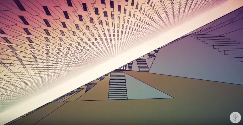 "Screenshot from William Chyrs ""Manifold Garden"" video game."