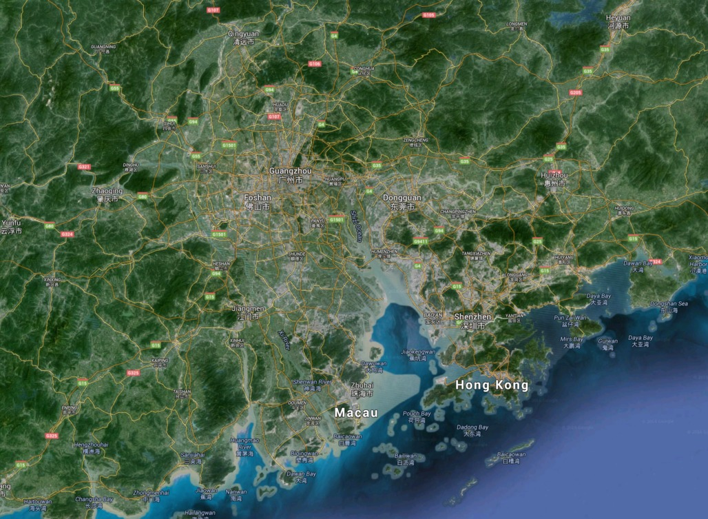 Take a look at the rapid urbanization of China's Pearl ...
