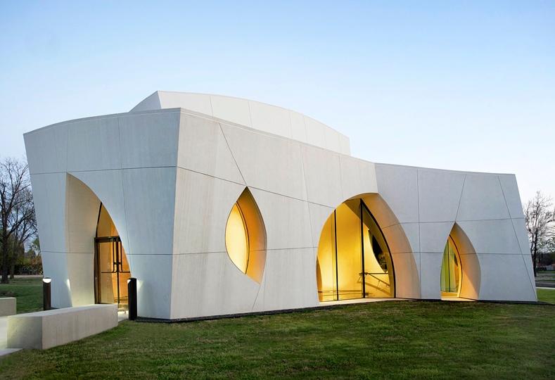 Originally designed during the 1990s by Philip Johnson Alan Ritchie Architects, the Cathedral of Hope, Interfaith Peace Chapel in Dallas was completed in 2010 by Cunningham Architects as the construction architect. Image via Cunningham Architectss firm profile on Archinect.