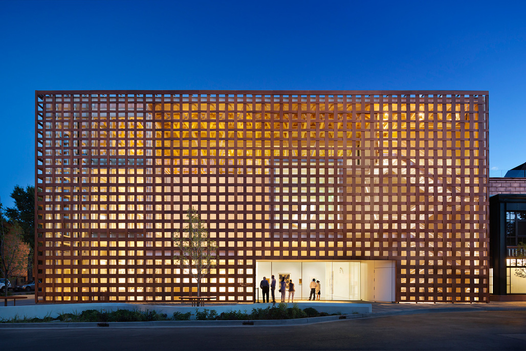 Theres nothing quite like the warm glow of a wooden building against a blue evening sky. Pictured: Aspen Art Museum, Aspen, CO, by Shigeru Ban Architects. Photo credit: entrant of the 2014 Wood Design Awards.