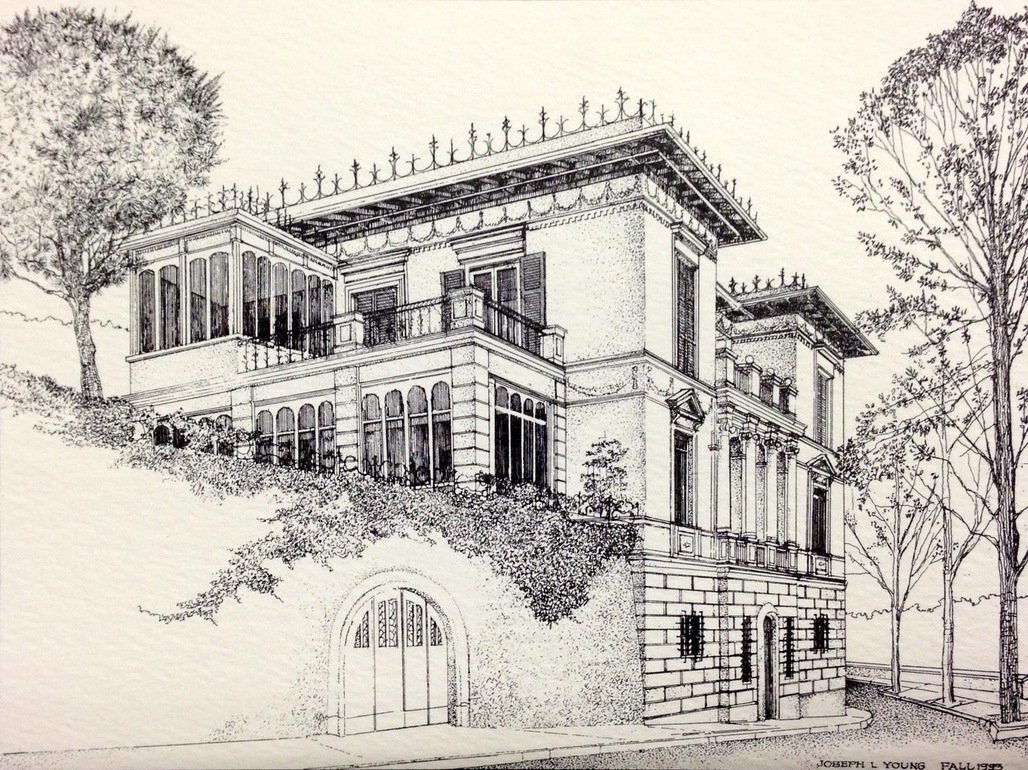 """Clemsons Charles E. Daniel Center for Building Research and Urban Study, """"The Villa,"""" by Joe Young, 1993."""