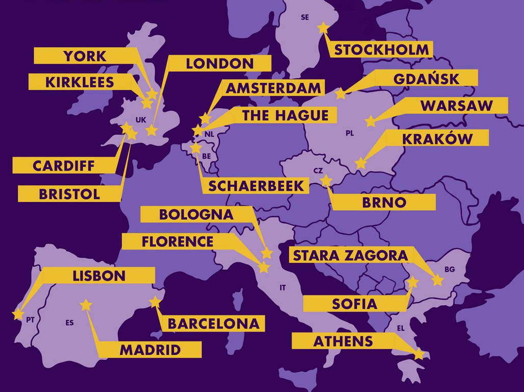 Finalists of the Bloomberg Philanthropies Mayors Challenge European competition
