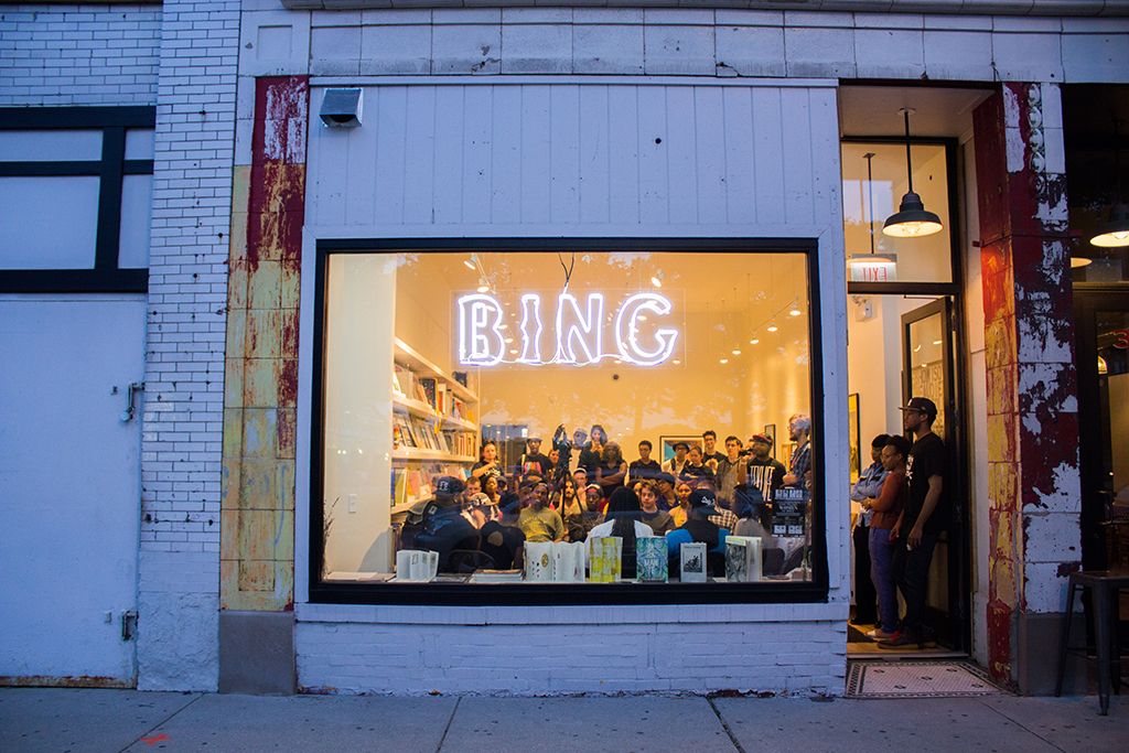 University of Chicago Arts + Public Life | Bing Art Books, Chicago | 2015 | Photography by Becca Waterloo, image courtesy Arts + Public Life, via archleague.org.