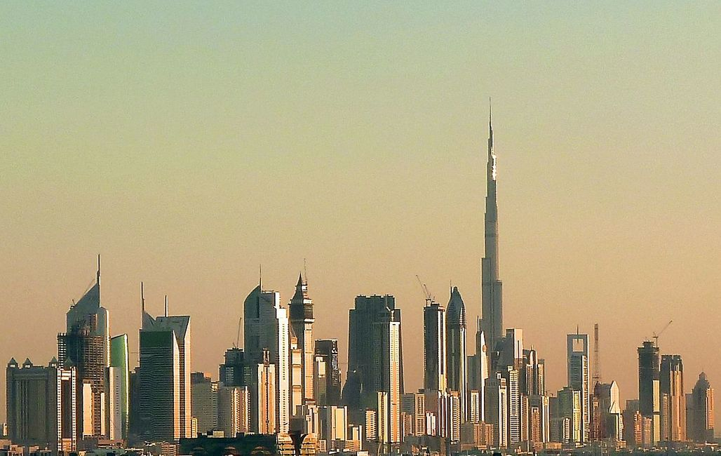 """Dubai skyline in 2010. Once completed, the emirates new Burj 2020 tower will steal the title of """"Worlds Tallest Office Tower"""" from New Yorks One World Trade Center. The height of Burj 2020 has not been announced yet. (Photo: Jan Michael Pfeiffer; Image via Wikipedia)"""
