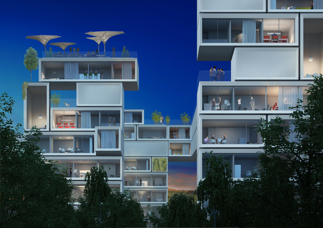 The renewable future: Sobeks renderings of an emissions-free city.