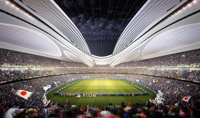 Zaha Hadid Architects designs for Japans national stadium (via bdonline.co.uk)